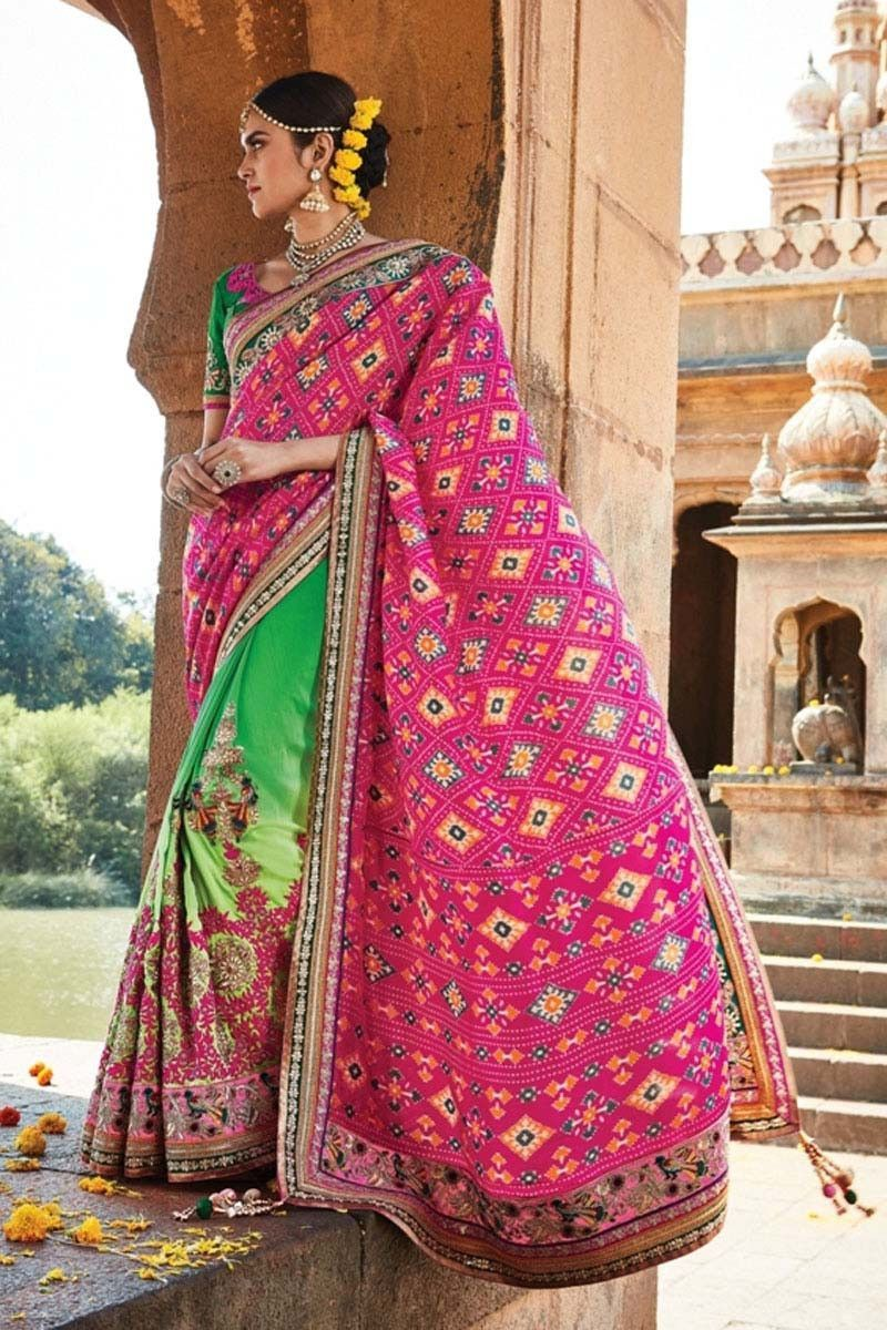 Pink Silk Wedding Saree | Indian outfits | Pinterest