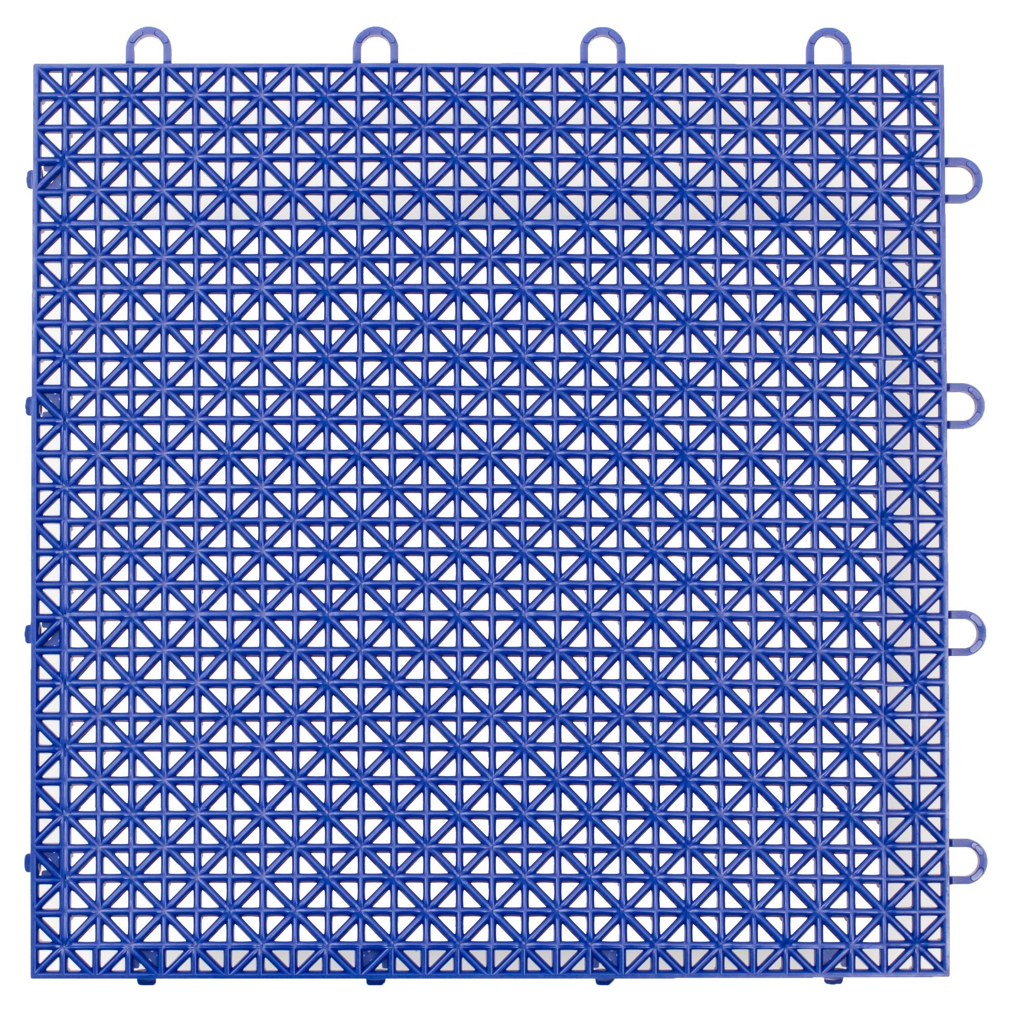 "12""x12"" Armadillo Floor Tile 9 Pack Cobalt Blue"
