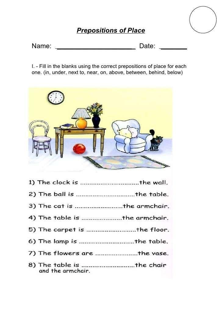 Molto Schede di inglese per la scuola primaria - Le preposizioni in  RQ23