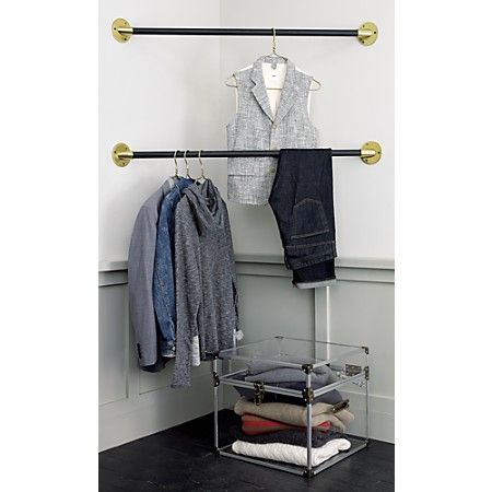 Hanging Bars For An Impromptu Closet