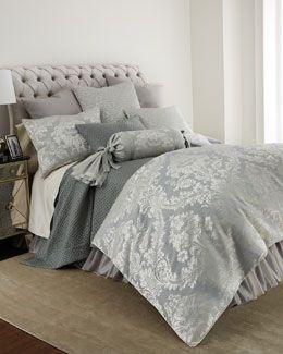 55dm Fino Lino Linen Lace Queen Athena Damask Duvet Cover 90 X