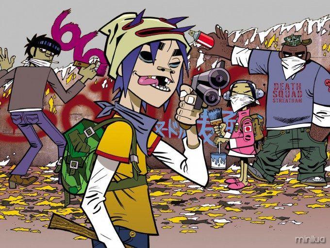 Os maiores hits dos anos 2000 1 Gorillaz, Caricatura e