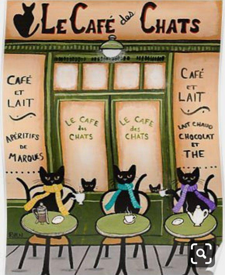 ปักพินโดย Mia Moore ใน Ryan Conners Folk Cat Art