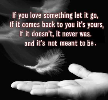 If You Love Something Let It Go If It Comes Back To You It Is Yours