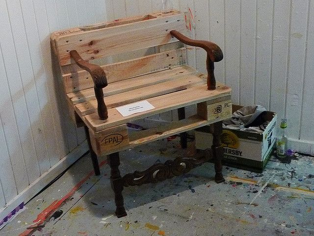 Palette furniture | Pallet chair, Pallets and Pallet projects