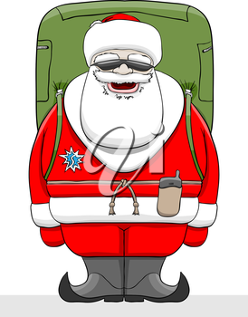 Ice Hockey Santa Claus Stick On Stock Vector (Royalty Free) 233560951
