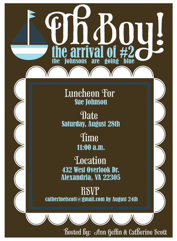 Nautical Baby Shower Invitation | DIY Love The Day PRINTABLES ...