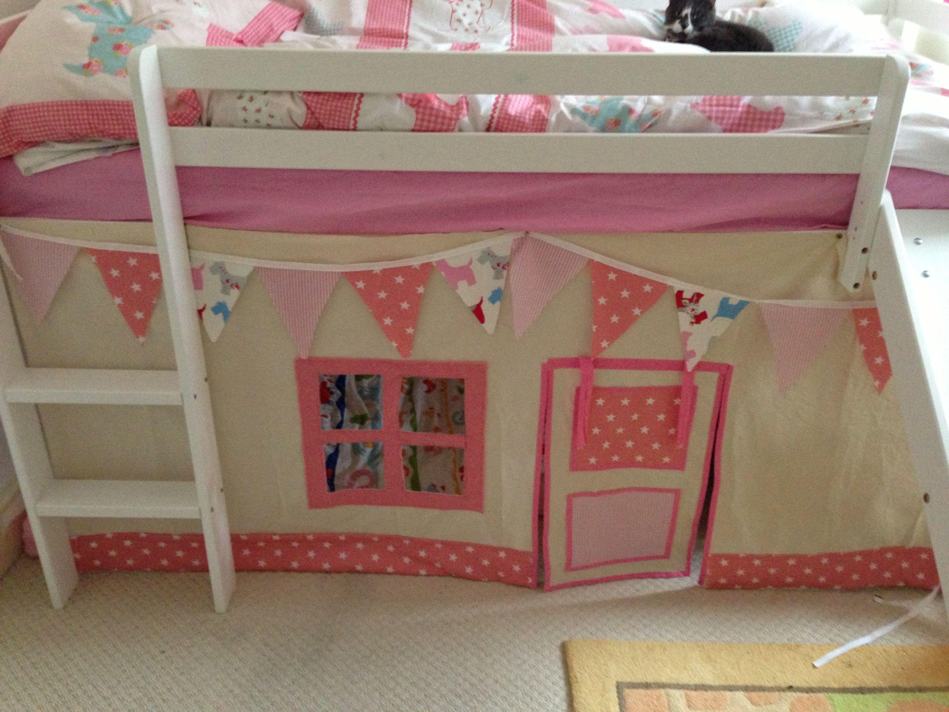 Mid Sleeper Canvas Tent Bed Tent Girls Bunk Beds Kids