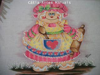 Catia Artes Manuais: PASSO A PASSO PINTURA GINGERS