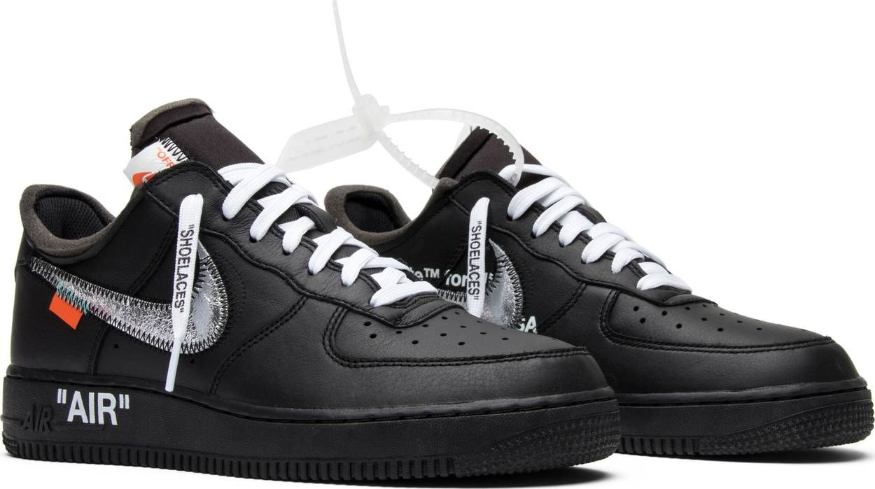 Off White X Air Force 1 Low 07 Moma Nike Av5210 001 Goat In 2020 Hype Shoes Air Force Black Nikes