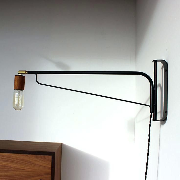 bedroom swing arm wall sconce plug in 1 light bronze home depot