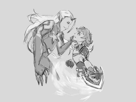 pidge-time: Pidge and Lotor fight but it looks as if Lotor