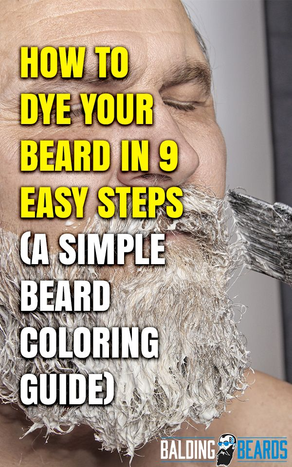 How to Dye Your Beard in 9 Easy Steps (Simple Beard Coloring ...