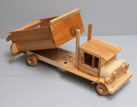 Eco Friendly Children S Large Toy Wooden Dump Truck Car