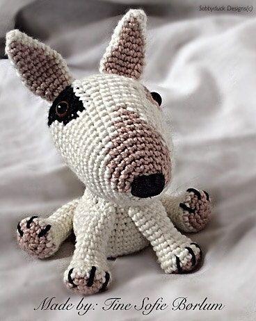 Bull Terrier Crochet Pattern PDF English by SobbyduckDesigns