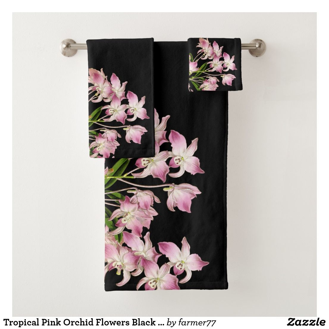 Create Your Own Towel Zazzle Com With Images Pink Orchids