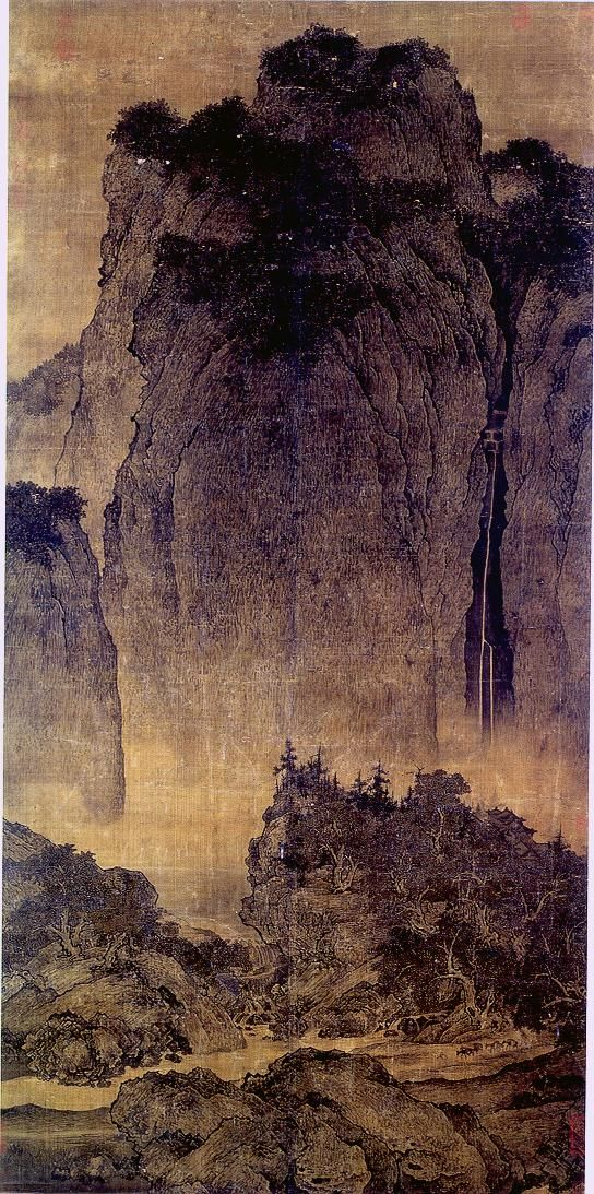Fan Kuan Travelers Among Mountains And Streams Northern