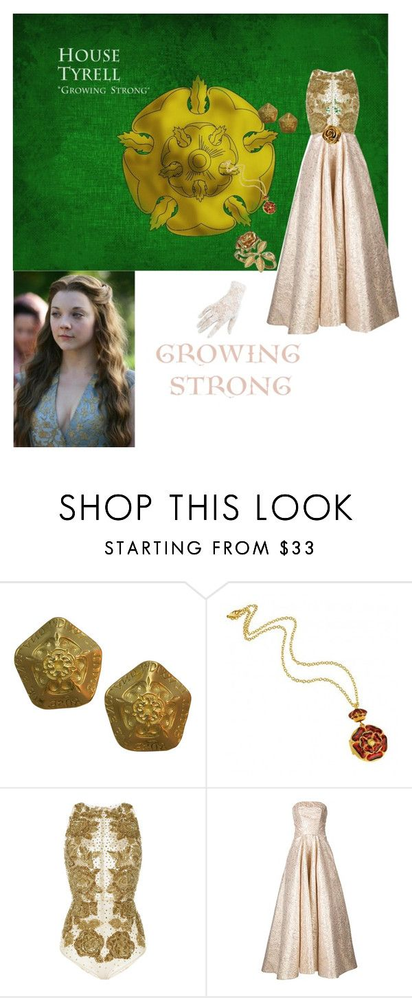 """Margaery Tyrell inspired"" by athena637 ❤ liked on Polyvore featuring Elizabeth Gage, Zuhair Murad, Christian Siriano, Black and Christian Dior"