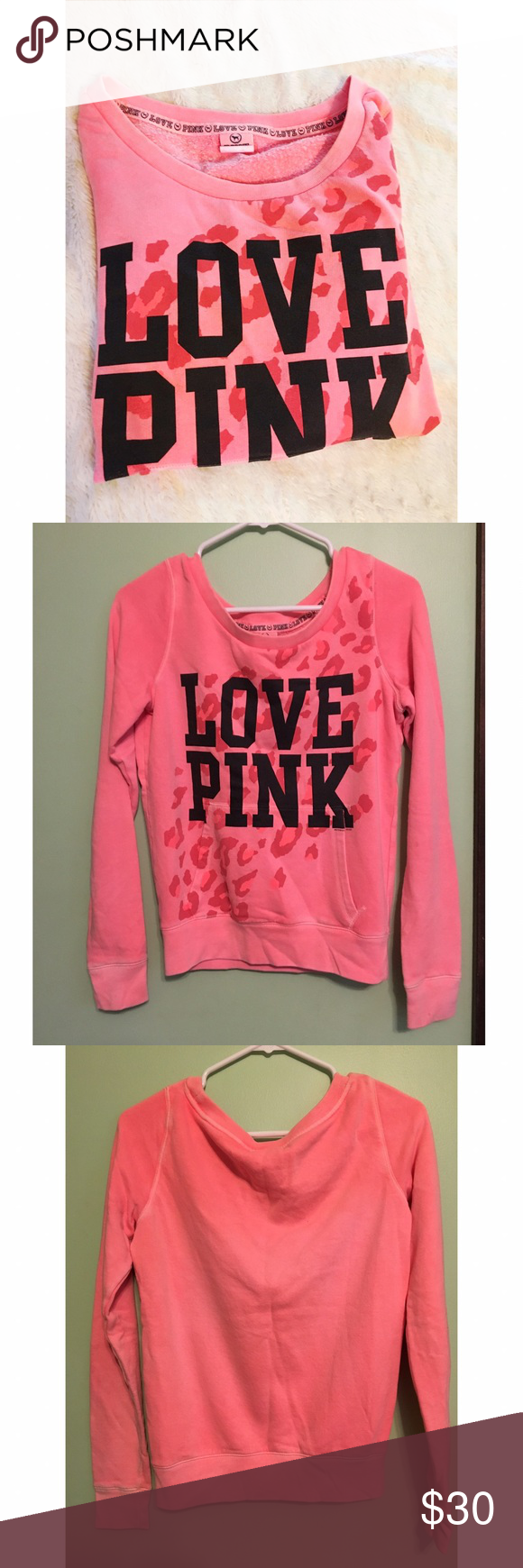 VS | PINK crew neck sweatshirt | Crew neck sweatshirt, vs Pink and ...
