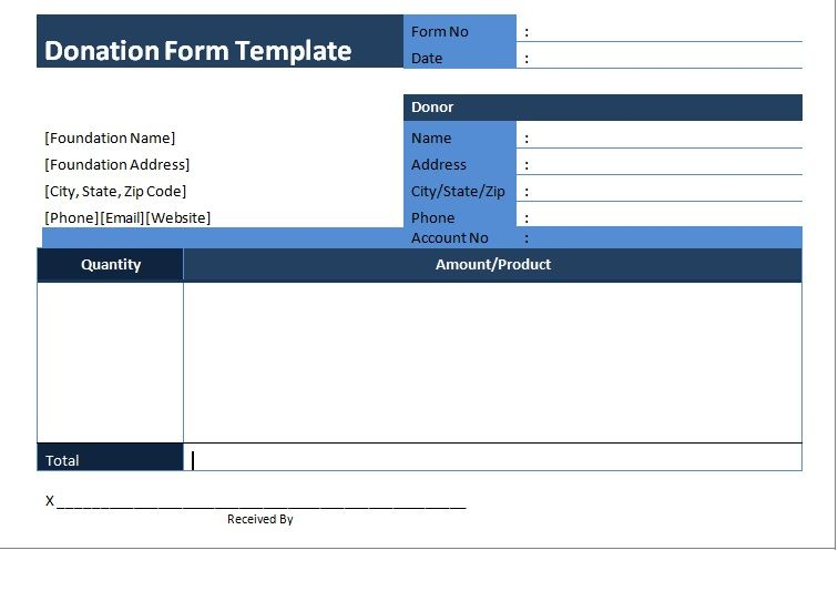 Donation Template Pleasing Get Donation Form Template Sample Word  Sampletemplates  Excel .