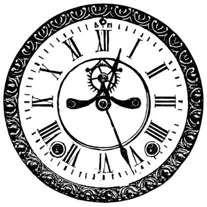 free printable vintage clock face | Download | silhouettes ...