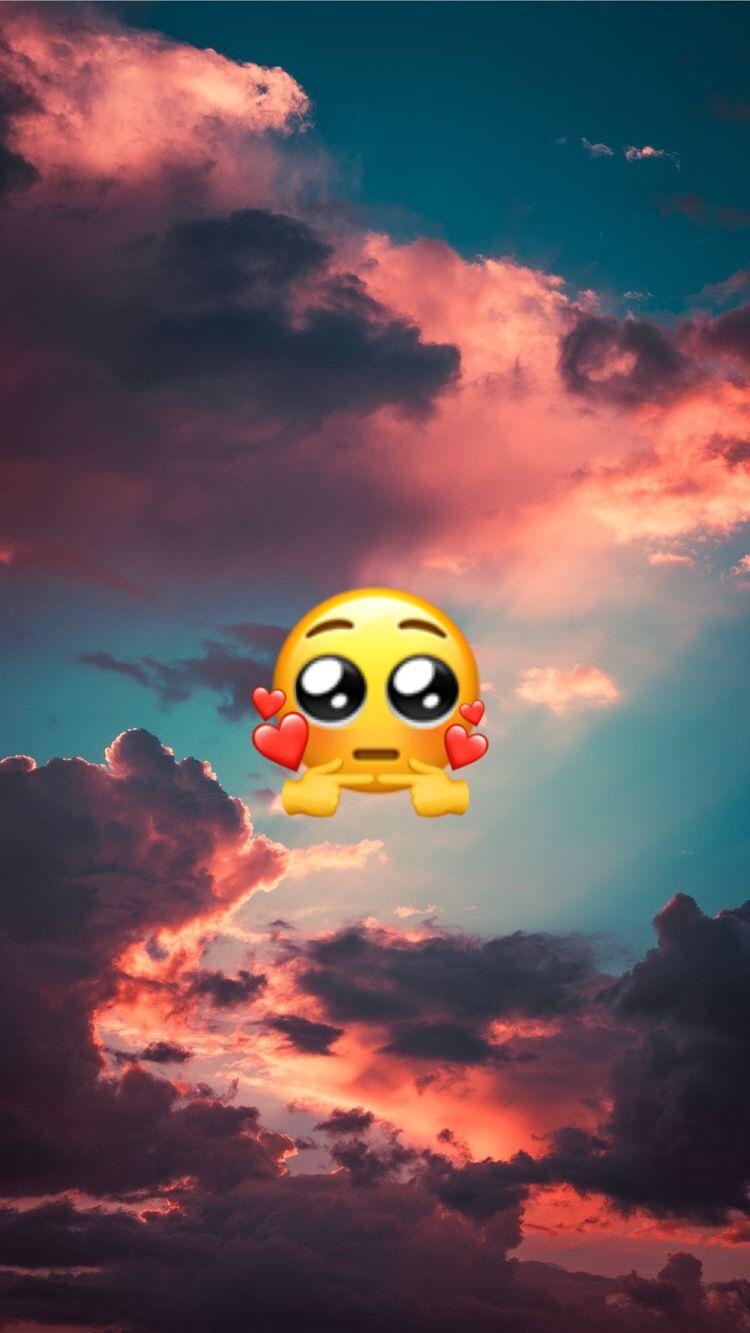 Fond Ecran Emoji Amoureux En 2020 Fond Ecran Emoji Fond D Ecran Colore Fond D Ecran Telephone