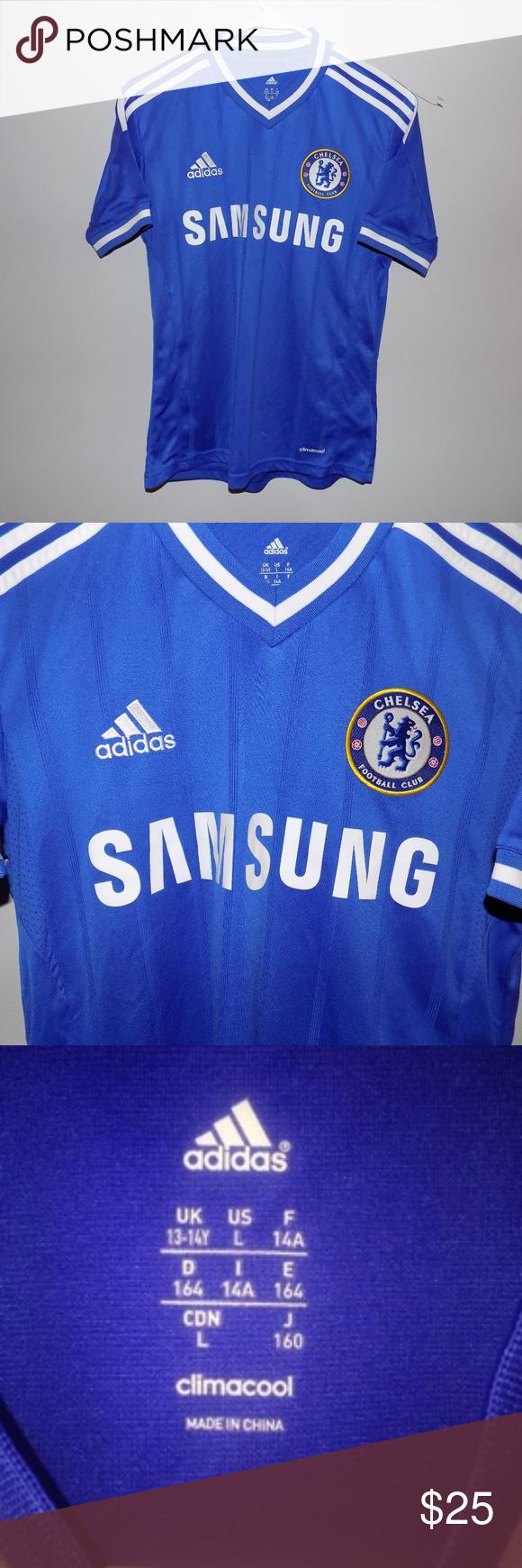 cheap for discount 083d4 04b8f Men s Adidas Samsung Chelsea Soccer Jersey Men s Adidas Samsung Chelsea  Soccer Jersey. Still in excellent