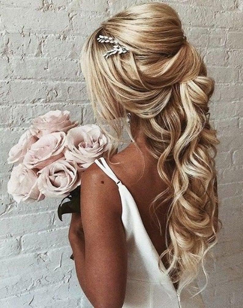 Bridal hair piece Crystal Opal hair comb Blue Opal Bridal hair   Etsy