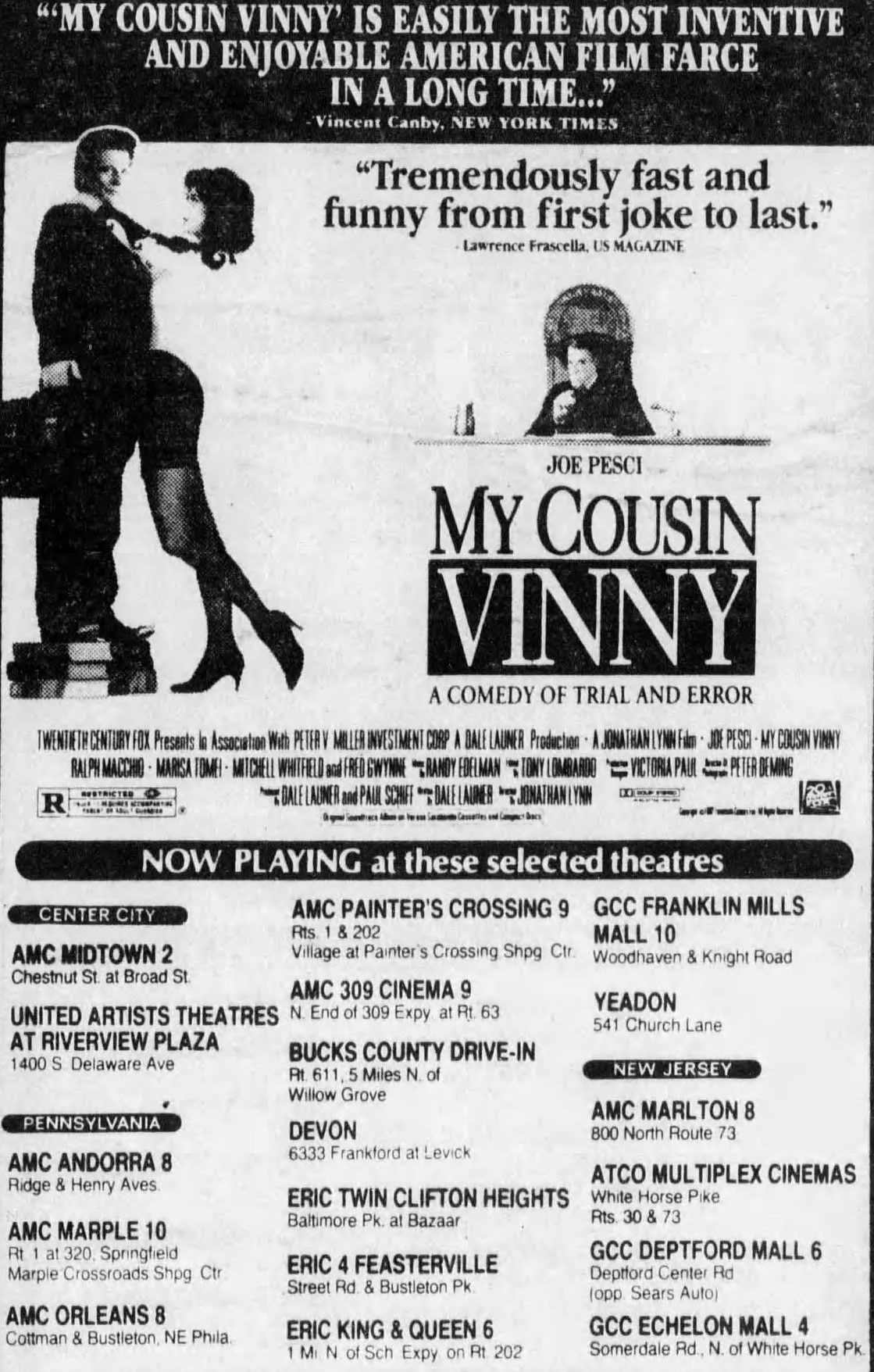 My Cousin Vinny 1992 In 2020 My Cousin Philadelphia Inquirer Old Movies More information can be found at. my cousin vinny 1992 in 2020 my