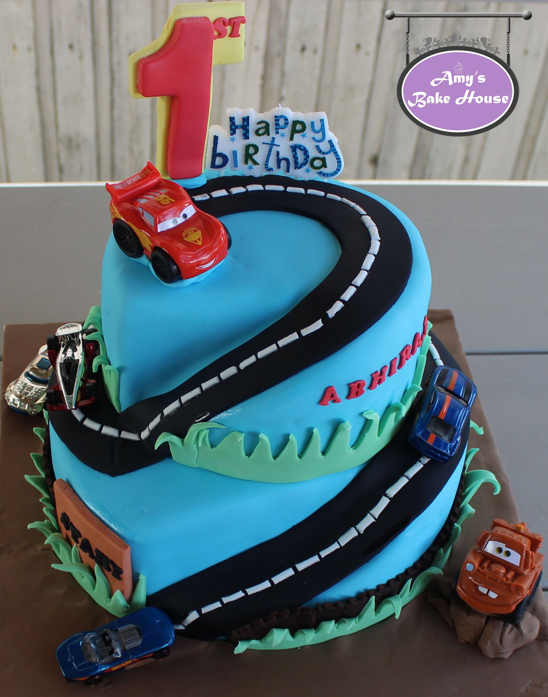 Disney Hot Wheels Car Themed Birthday Cake Amys Bake House