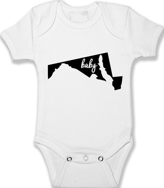 Maryland Home State Baby Bodysuit Infant Baby Clothing Unisex