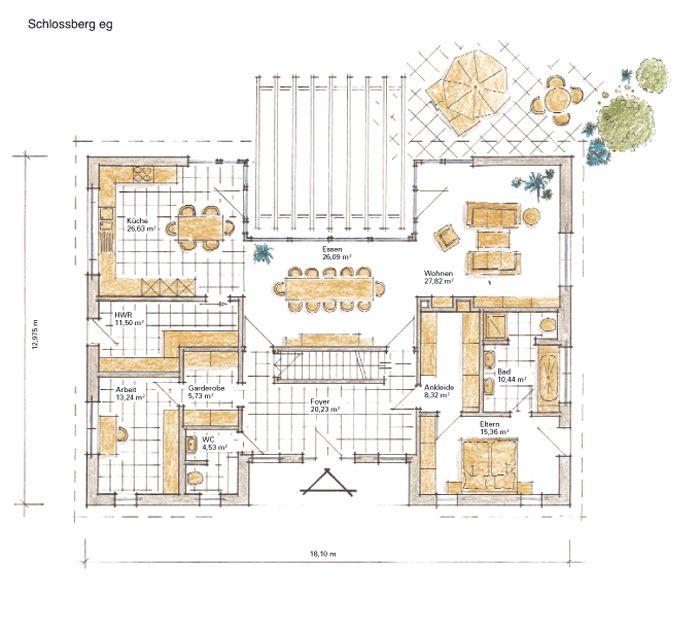 Fertighaus Schlossberg - Erdgeschoss | Wohnen | Pinterest
