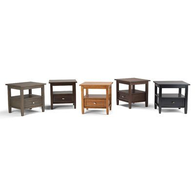 Simpli Home Warm Shaker End Table With Storage Color Farmhouse