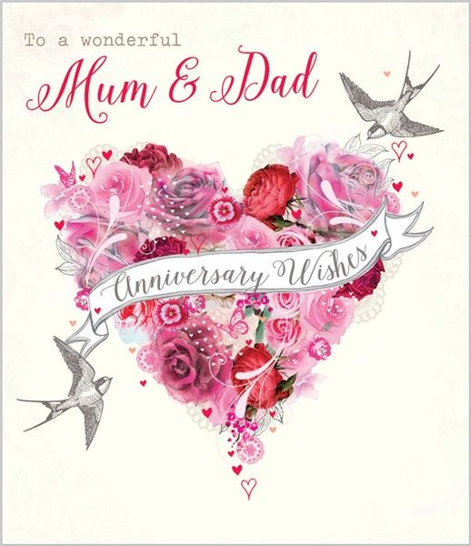 Card Ranges 7392 Mum Dad Anniversary Floral Heart Abacus Cards Greetings Cards Gift Wrap Stationery Anniversary Happy Anniversary Cards