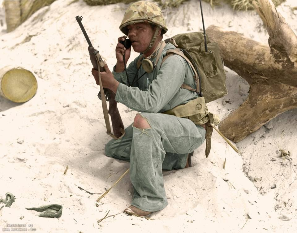 A Us Navajo Marine Municating Over His Radio In The Field Of Rhpinterest: Us Marines Radio Codes At Elf-jo.com