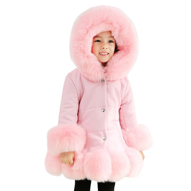2018 winter thick warm little girls clothing 3-14 yrs baby girl vintage noble long coat halloween christmas thanksgiving outfits | www