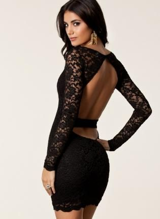 Multi Cocktail Dress - Sexy Laced Open Back Cocktail   UsTrendy