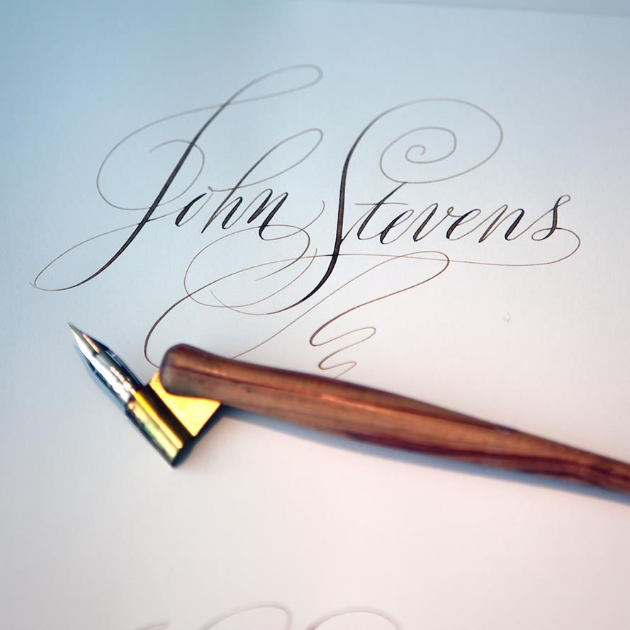 John Stevens Love Those Offset Copperplate Pens