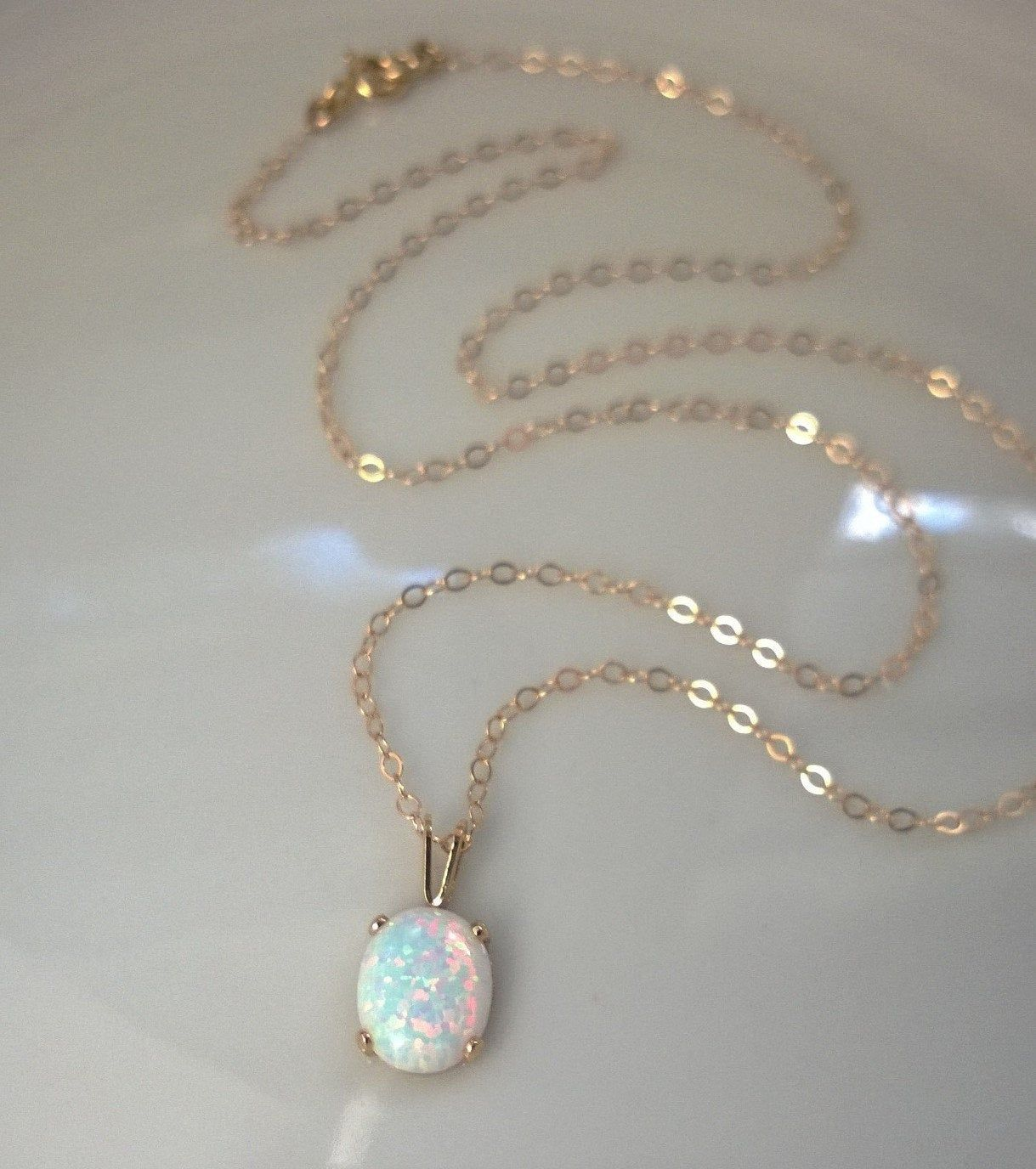 Pin By Gemstone Jewelry Uralsmaster On Things To Wear Opal Pendant Necklace October Birthstone Necklace Opal Necklace