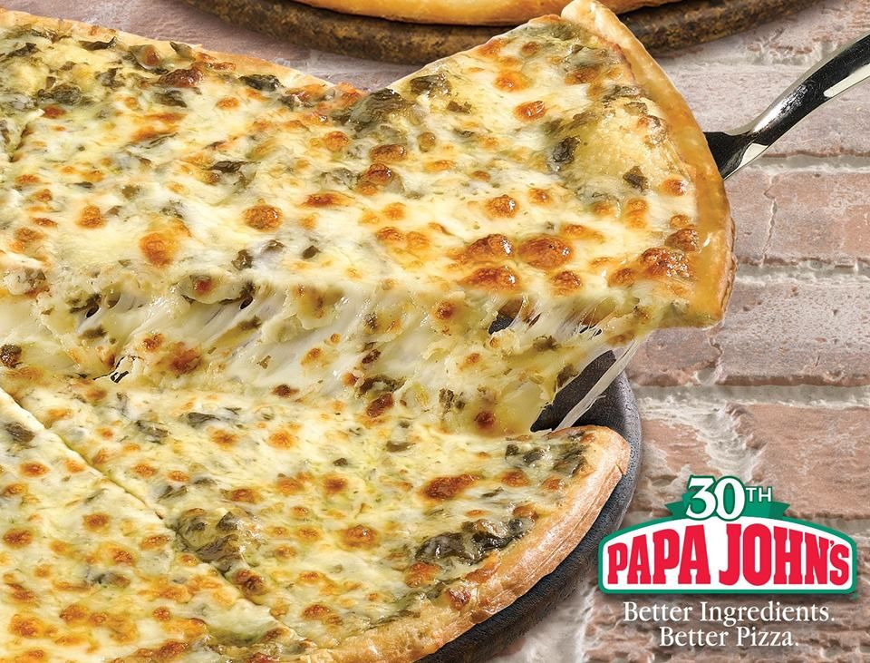 Spinach Alfredo Pizza Betteringredients Betterpizza Papajohns Good Pizza Spinach Alfredo Pizza Special