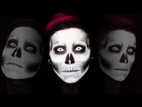 skull makeup tutorial  halloween makeup halloween skull