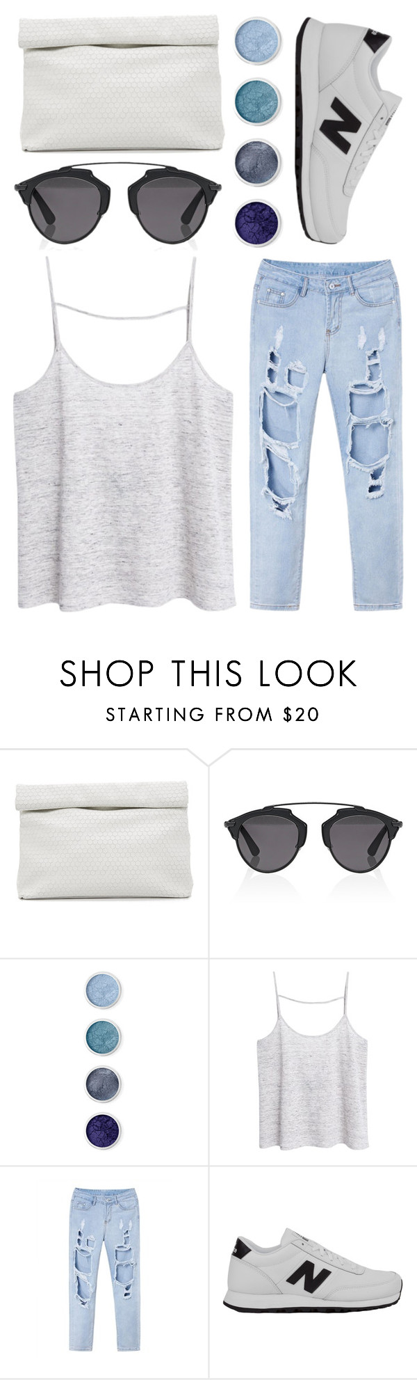 """""""deep"""" by grey-eyes ❤ liked on Polyvore featuring Marie Turnor, Christian Dior, Terre Mère, MANGO and New Balance"""