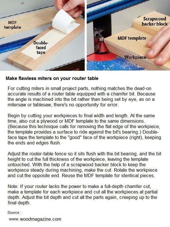 Make flawless miters on your router table woodworking pinterest router table keyboard keysfo Images