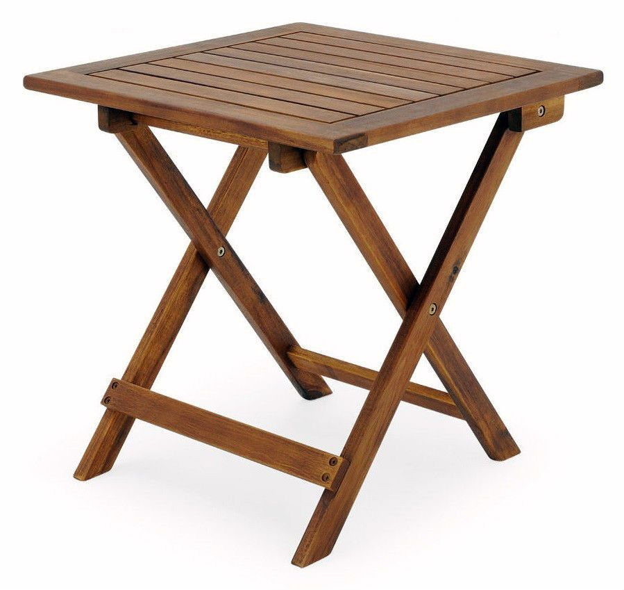 Garden Table Furniture Wooden Bistro Side Coffee Patio Foldable Balcony Outdoor  sc 1 st  Pinterest & Garden Table Furniture Wooden Bistro Side Coffee Patio Foldable ...