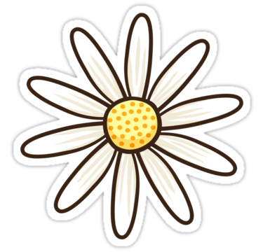 White Daisy Sticker By Mhea Cute Stickers Cartoon Flowers Print Stickers