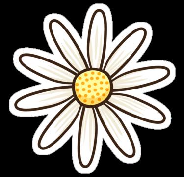 Window Sticker Flower Sticker Laptop Sticker Daisy Flower Sticker Phone Sticker Daisy Sticker Water Bottle Sticker