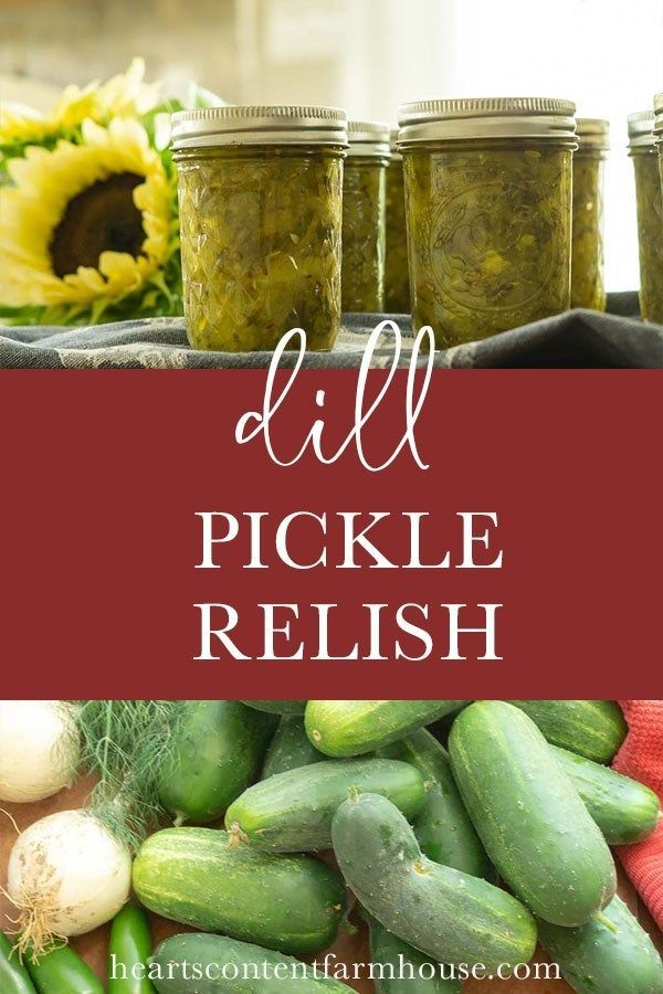 Simple and Classic | Recipe in 2020 | Dill pickle relish ...