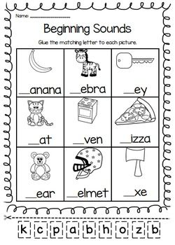 Kindergarten Phonics Worksheets Printable