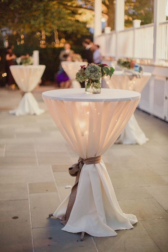 40 incredible ideas to decorate wedding cocktail tables for Wedding cocktail table ideas
