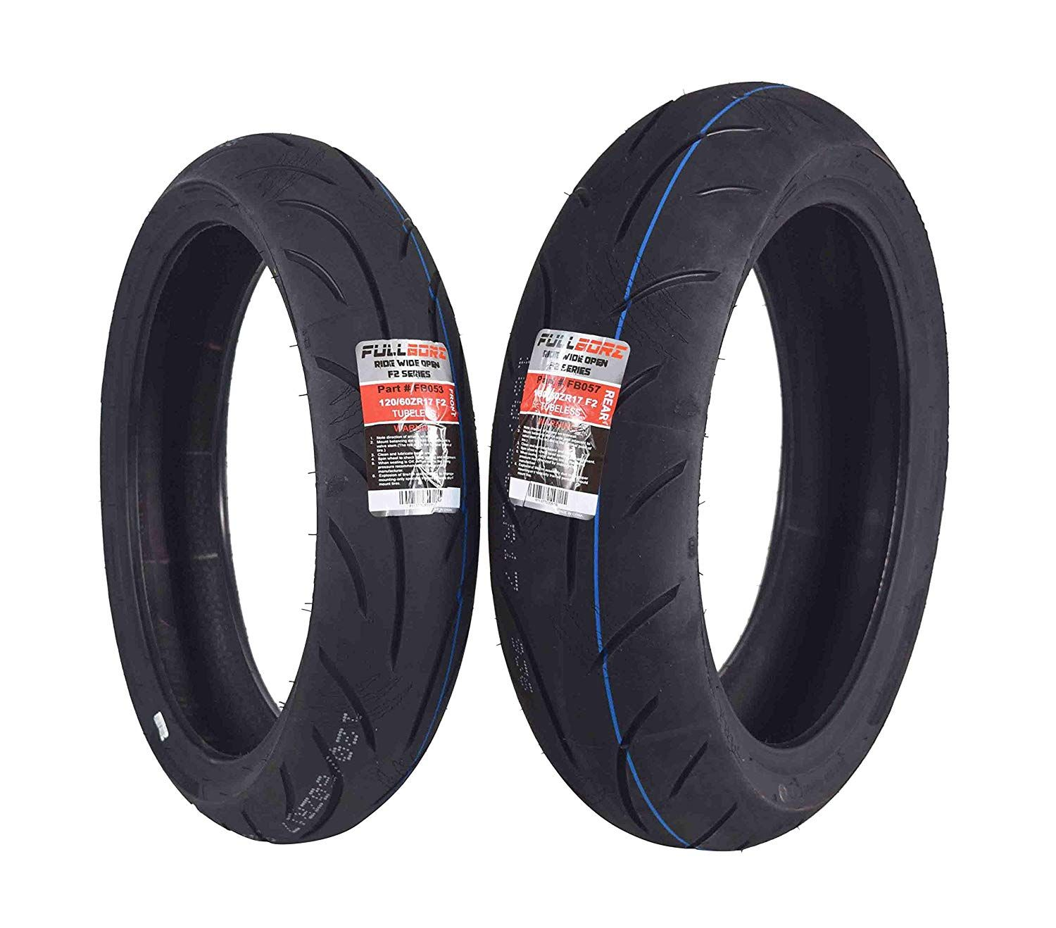 Full Bore F2 Series 120 60zr17 Front And 160 60zr17 Rear Radial Motorcycle Sport Bike Tire Combo Set 120 60 17 1 Bike Tire Sport Bikes Sports Bikes Motorcycles